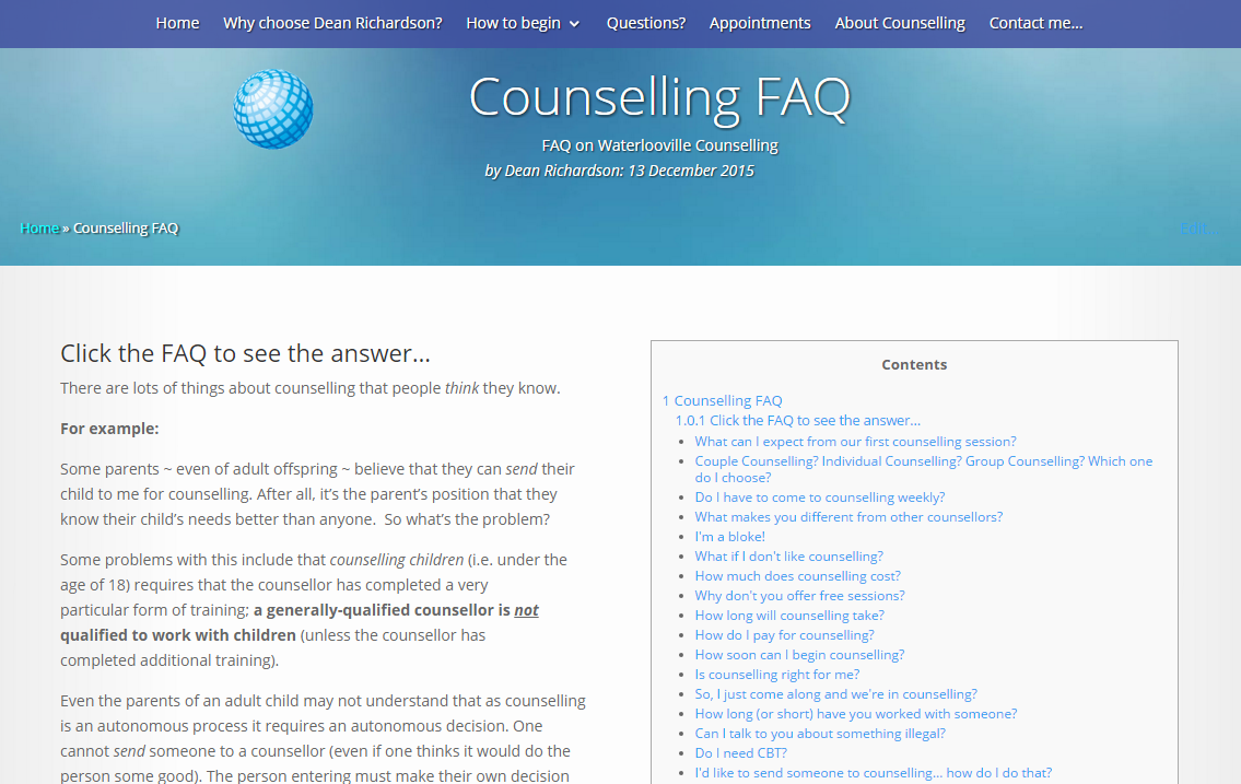 Questions on Havant Counselling Services